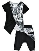cheap Men's Pants & Shorts-Toddler Boys' Active Color Block Short Sleeve Clothing Set