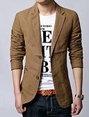 olcso Férfi dzsekik és kabátok-Egyszerű Férfi Blézer - Egyszínű