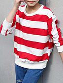 tanie Bluzy dla dziewczynek-Dzieci Dla dziewczynek Prosty Prążki Bawełna T-shirt