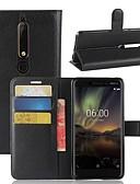 hesapli Cep Telefonu Kılıfları-Pouzdro Uyumluluk Nokia Nokia 9 / Nokia 8 / Nokia 7 Cüzdan / Kart Tutucu / Flip Tam Kaplama Kılıf Solid Sert PU Deri / Nokia 6