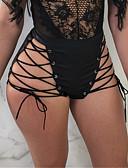 ieftine Pantaloni de Damă-Pentru femei Punk & Gotic Mărime Plus Size Zvelt Pantaloni Scurți Pantaloni - Mată Eliminat Talie Înaltă Alb / Club / Sexy
