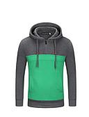 povoljno Muške majice i potkošulje-Muškarci Sport Ulični šik Dugih rukava Slim Duga Hoodie / hoodie jakna Color block S kapuljačom