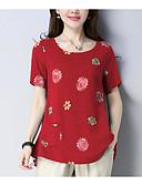 ieftine Eșarfe la Modă-Pentru femei Tricou De Bază - Floral Imprimeu