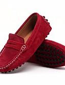 abordables Chaquetas y Abrigos de Hombre-Chico Zapatos Cuero Nobuck Primavera Confort Zapatos de taco bajo y Slip-On para Negro / Wine