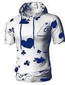 baratos Camisetas & Regatas Masculinas-Homens Camiseta Básico Estampado, Geométrica