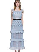 cheap Women's Skirts-Women's Sheath Dress - Solid Colored Lace Strap / Spring