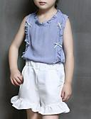 זול שעוני יוקרה-סט של בגדים חוטי זהורית פוליאסטר קיץ ללא שרוולים יומי ליציאה אחיד בנות יום יומי סגנון רחוב פול ורוד מסמיק