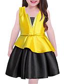 tanie Sukienki dla dziewczynek-Brzdąc Dla dziewczynek Na co dzień Jendolity kolor Bez rękawów Sukienka