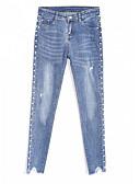ieftine Pantaloni de Damă-Pentru femei De Bază Zvelt Blugi Pantaloni - Mată Albastru Deschis