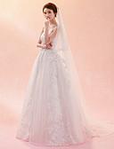 baratos Véus de Noiva-Uma Camada Clássico Chique & Moderno Véus de Noiva Véu Catedral Com Bordado Tule