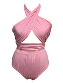 povoljno Ženske majice na bratelice i potkošulje-Žene Osnovni Na vezanje oko vrata žuta Red Blushing Pink Gaće Tankini Kupaći kostimi - Jednobojni Otvorena leđa / Vezanje straga M L XL / Sexy