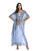 זול שמלות נשים-מקסי גיאומטרי - שמלה ישרה בוהו בגדי ריקוד נשים