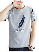 tanie Koszulki i tank topy męskie-T-shirt Męskie Aktywny Okrągły dekolt Solidne kolory / Krótki rękaw