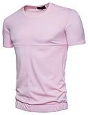 tanie Koszulki i tank topy męskie-T-shirt Męskie Podstawowy Bawełna Okrągły dekolt Szczupła - Solidne kolory / Krótki rękaw