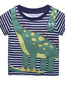 Χαμηλού Κόστους Μπλουζάκια για αγόρια-Νήπιο Αγορίστικα Ενεργό Καθημερινά / Αργίες Ριγέ Στάμπα Κοντομάνικο Κανονικό Βαμβάκι / Πολυεστέρας Κοντομάνικο Βαθυγάλαζο