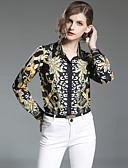 cheap Women's Tops-SHIHUATANG Women's Work Street chic Slim Shirt - Paisley Print Shirt Collar