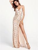 tanie Sukienki sylwestrowe-Damskie Bodycon Sukienka - Solidne kolory W serek Asymetryczna / Seksowny