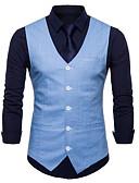 ieftine Tricou Bărbați-Bărbați Zilnic / Muncă Afacere / De Bază Vară Mărime Plus Size Regular Γιλέκο, Mată În V Fără manșon Bumbac / Poliester Bleumarin / Roșu Vin / Albastru Deschis XXL / XXXL / 4XL / Ocazional afaceri