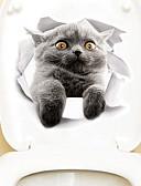 お買い得  レディースセーター-マグネットステッカー トイレステッカー - 動物の壁のステッカー 動物 3D リビングルーム ベッドルーム 浴室 キッチン ダイニングルーム 研究室 / オフィス