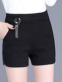 tanie Bluzka-Damskie Podstawowy / Moda miejska Szczupła Typu Chino Spodnie - Solidne kolory Wysoka talia Czarny