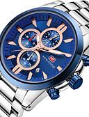cheap Sport Watches-MINI FOCUS Men's Wrist Watch Quartz Black / Silver Calendar / date / day Chronograph Stopwatch Analog Luxury Casual - Black / Silver Rose Gold / Silver Silver / Blue / Large Dial