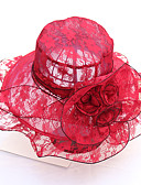 cheap Party Headpieces-Women's Cute / Basic Sun Hat - Print Lace / Fabric / All Seasons