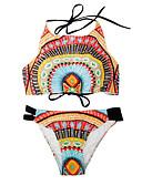 billige Bikinier og bademode 2017-Dame Plusstørrelser Grime Bandeau Tankini - Geometrisk, Basale Cheeky