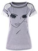billige Kjoler-T-skjorte Dame - Portrett, Trykt mønster / Lapper Grunnleggende / Gatemote