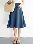 tanie Damska spódnica-Damskie Linia A Spódnice - Wyjściowe Solidne kolory Wysoka talia