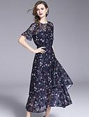 tanie Sukienki-Damskie Podstawowy Szczupła Spodnie - Kwiaty / Geometric Shape Koronka / Frędzel / Nadruk Granatowy / Impreza