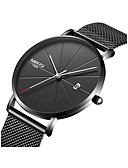 cheap Dress Watches-Men's Wrist Watch Japanese 30 m Water Resistant / Water Proof Calendar / date / day Chronograph Stainless Steel Band Analog Minimalist Black / Silver / Grey - Gold / Black Black / Yellow Black