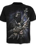 povoljno Muške majice i potkošulje-Majica s rukavima Muškarci - Lubanja pretjeran Dnevno Color block Lubanje Print