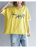 tanie Dwuczęściowe komplety damskie-T-shirt Damskie Vintage, Odkryte plecy Bawełna Solidne kolory Rekaw z falbanami Czarno-czerwony