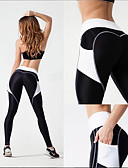 cheap Leggings-Women's Patchwork / Pocket Yoga Pants - White / Black, Blue / Black, Black / Pink Sports Heart High Rise Tights / Leggings Running, Fitness, Gym Activewear ANT+, Quick Dry, Sterilize Stretchy Skinny