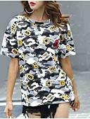 ieftine Tricou-tricou pentru femei - camuflaj gât rotund