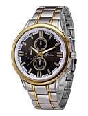 זול שעוני יוקרה-בגדי ריקוד גברים שעון יד 30 m כרונוגרף צג גדול מתכת אל חלד להקה אנלוגי פאר אופנתי כסף - כסף שחור וזהב לבן / זהב שנה אחת חיי סוללה / SSUO LR626