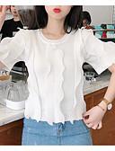 cheap Women's Dresses-Women's Basic T-shirt - Solid Colored Ruffle Patchwork