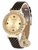 cheap Quartz Watches-Women's Ladies Wrist Watch Quartz Chronograph Leather Band Analog Fashion Elegant Black / White / Blue - Yellow Fuchsia Blue One Year Battery Life / SSUO LR626