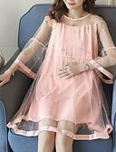 povoljno Dresses For Date-Žene Ulični šik Šifon Haljina - Mrežica Iznad koljena
