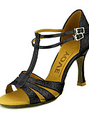 hesapli Göbek Dansı Giysileri-Kadın's Latin Dans Ayakkabıları / Balo Işıltılı Simler / Yapay Deri Sandaletler Toka Kişiye Özel Kişiselleştirilmiş Dans Ayakkabıları Gümüş / Mavi / Altın