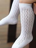 billige Undertøy og sokker til jenter-Baby Jente Aktiv Ut på byen Ensfarget Utskjæring Rayon Undertøy og strømper Hvit
