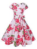 ieftine Rochii de Domnișoare de Onoare-Pentru femei Swing Rochie - Imprimeu, Floral Lungime Genunchi