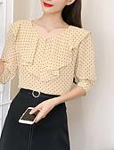 ieftine Bluză-bluza pentru femei - gât rotund polka dot