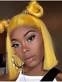 hesapli Lüks Saatler-Kökten Saç Ön Dantel Peruk Bob Saç Kesimi stil Düz Brezilya Saçı Düz Sarışın Peruk % 130 Saç yoğunluğu Bebek Saçlı Yumuşak İpeksi Doğal saç çizgisi Ağartılmış knot Sarışın Kadın's Şort Gerçek Sa