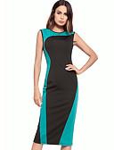 cheap Mother of the Bride Dresses-TS - Dreamy Land Women's Slim Sheath Dress - Color Block