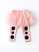 tanie Spodnie dla niemowląt-Dziecko Dla dziewczynek Aktywny Solidne kolory / Kolorowy blok Poliester Spodnie Pomarańczowy / Brzdąc