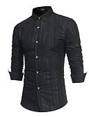 tanie Męskie koszule-Koszula Męskie Biznes, Nadruk Praca Szczupła - Solidne kolory / Długi rękaw / Wiosna
