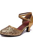 preiswerte Abendkleider-Damen Schuhe für modern Dance Glitzer Absätze Maßgefertigter Absatz Maßfertigung Tanzschuhe Silber / Rot / Rosa / Leistung
