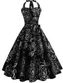 cheap Women's Coats & Trench Coats-Women's Vintage Swing Dress - Floral Print
