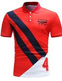 tanie Męskie koszulki polo-Polo Męskie Podstawowy Kołnierzyk koszuli Kolorowy blok / Bez rękawów